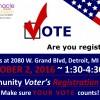 Community Voter's Registration Event – October 2, 2016