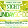 Night Sunday School at Tabernacle