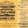 Pre-Registration NOW OPEN ::: Church in Fellowship, Study, & Prayer