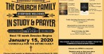 Church in Fellowship, Study, and Prayer – January 2020 Session