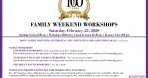Family Weekend Workshops