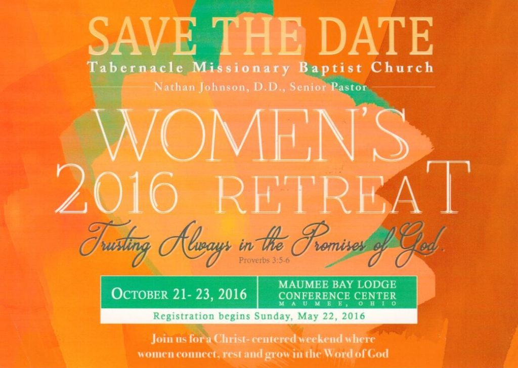 2016 Save the Date Women's Retreat