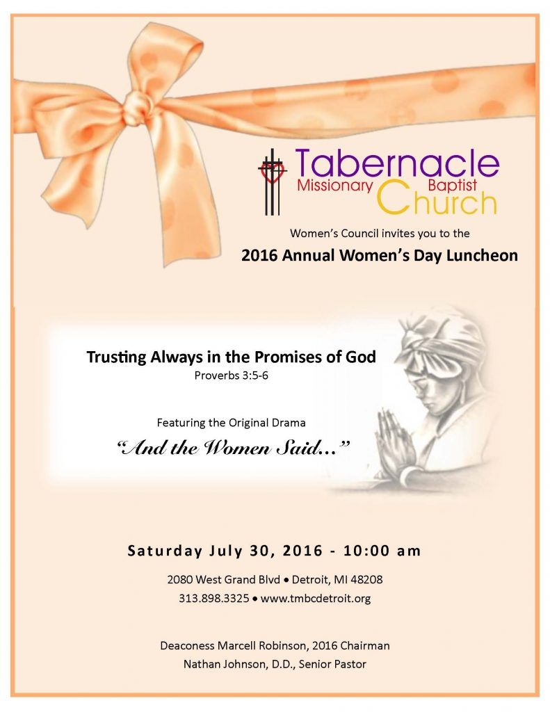 2016 Women's Day Flyer