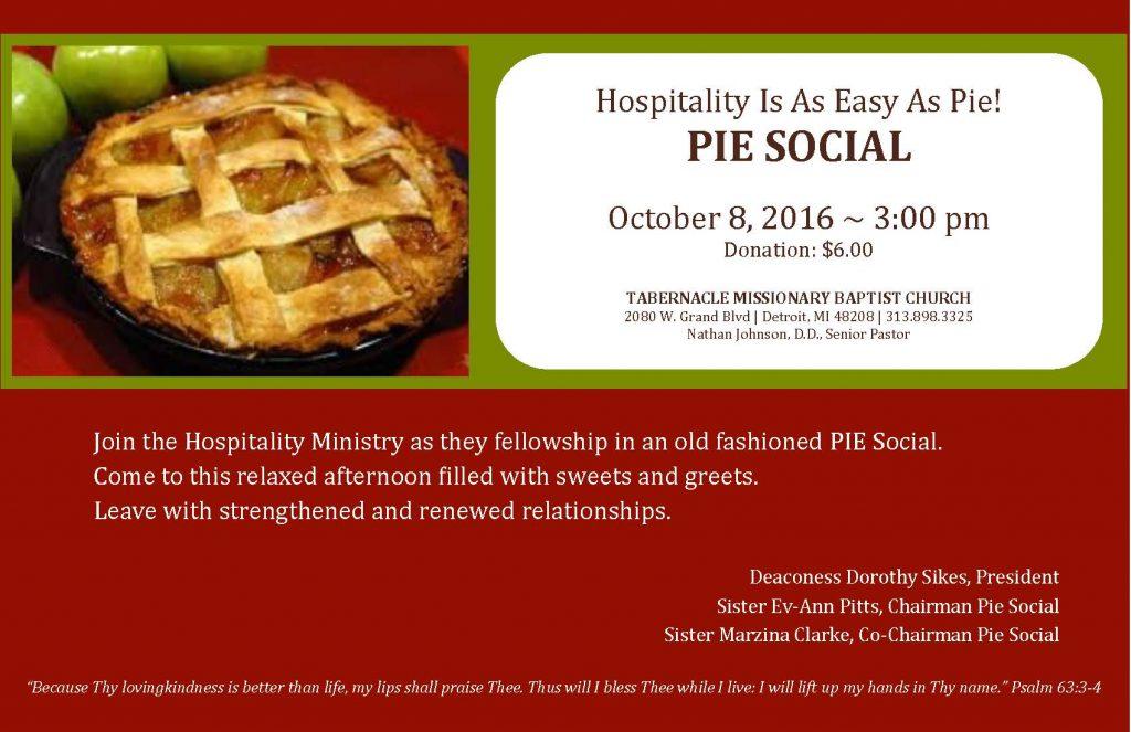 2016 Hospitality - Easy Pie