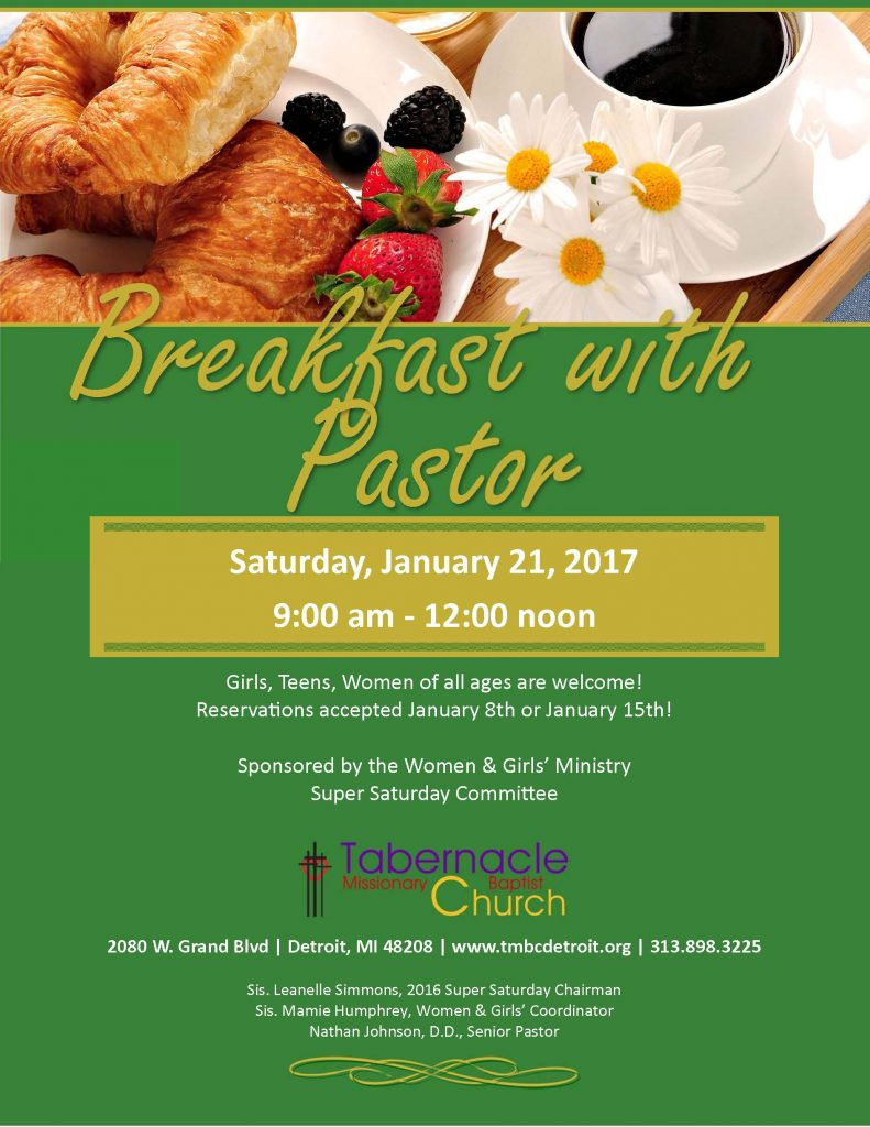 Breakfast with Pastor ...